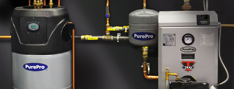 Pure Pro oil boiler and tank