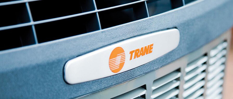 Trane air conditioning unit up close