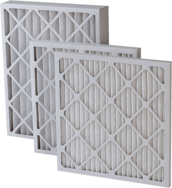 Three different sized air conditioning filters